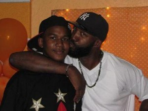 Trayvon Martin pictured with his father, Tracy Martin, before his death on February 26, 2012.