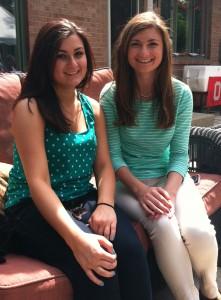 Freshman Talia Frissora with sister senior Anne Frissora
