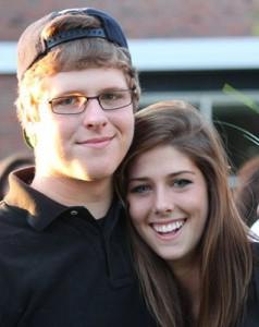 Freshman Lucas Janowicz with sister junior Lauren Janowicz