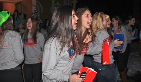 Tri-Delta greets new sisters on Bid Day.