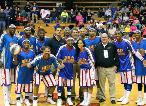"""The famous Harlem Globetrotters took Branch Rickey Arena by storm last week while on their """"Fans Rule World Tour."""""""