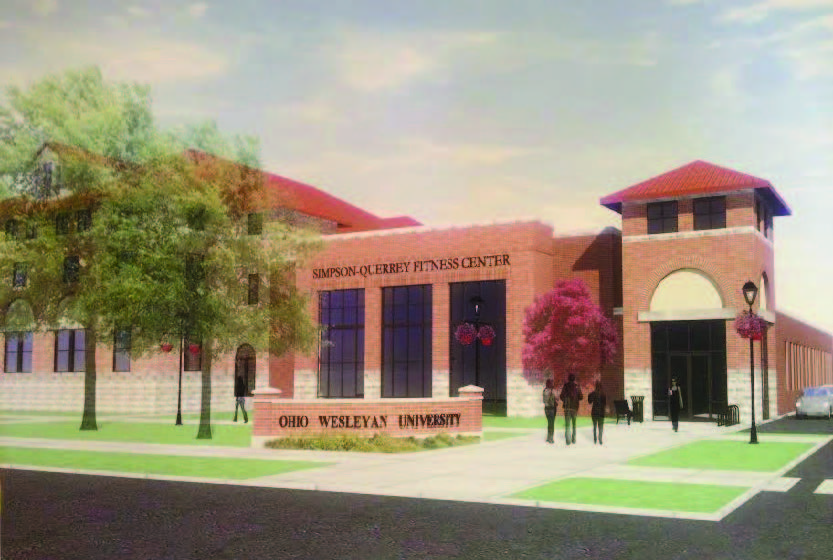 An artist's rendering of the future fitness center, displayed in the alumni center on a poster. The renovations are expected to take 15 to 20 months to be completed.