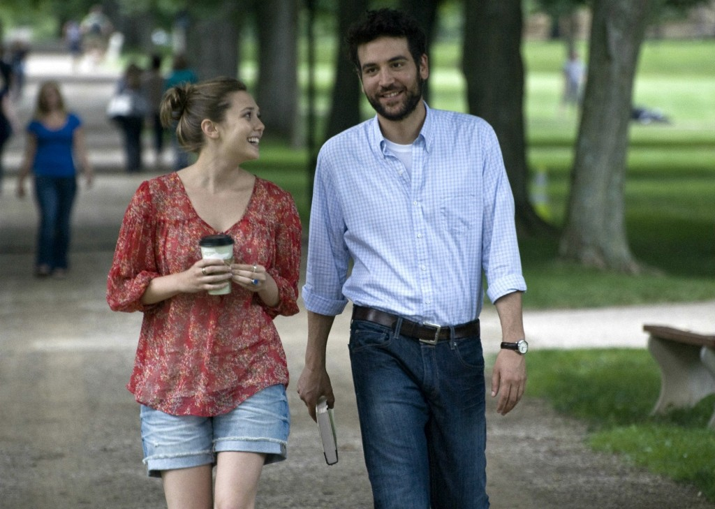 "Zibby, played by Elizabeth Olsen, and Jesse, Josh Radnor, stroll through campus. Radnor also wrote and directed ""Liberal Arts."""
