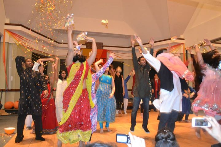 The finale of a Bollywood dance number by the members of Horizons International.