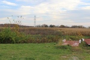 The site of the planned outlet mall where Highway 36 meets Interstate 71. Photo by Ellin Youse