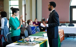 A CareerFest from last year in the Benes Rooms. Photo courtesy of the career services webpage.