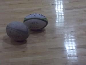 Rugby balls. Photo courtesy of Cecilia Smith.