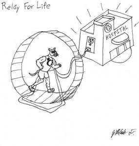 Plugging into the rat race. Cartoon by Blake Fajack.