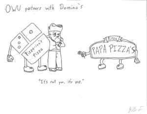 OWU partners with Domino's by Blake Fajack '16.