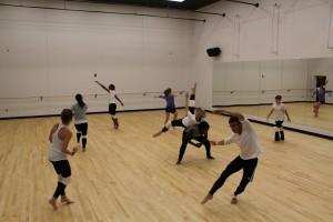 Students practice for Orchesis. Photo by Rashana Smith.