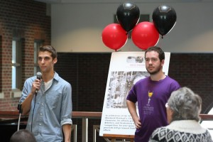 Ben Miller and recount details of Rowland's life in the Ham-Wil atrium on Nov. 12.