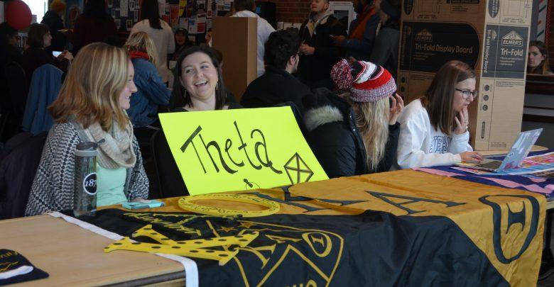 Mickey Rice and Kaitlyn Gilson representing Kappa Alpha Theta.