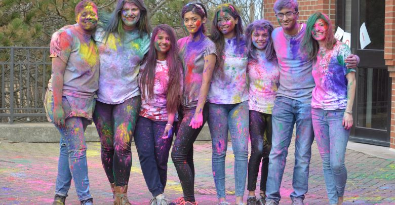 Horizon members and OWU students celebrated the Holi Festival.