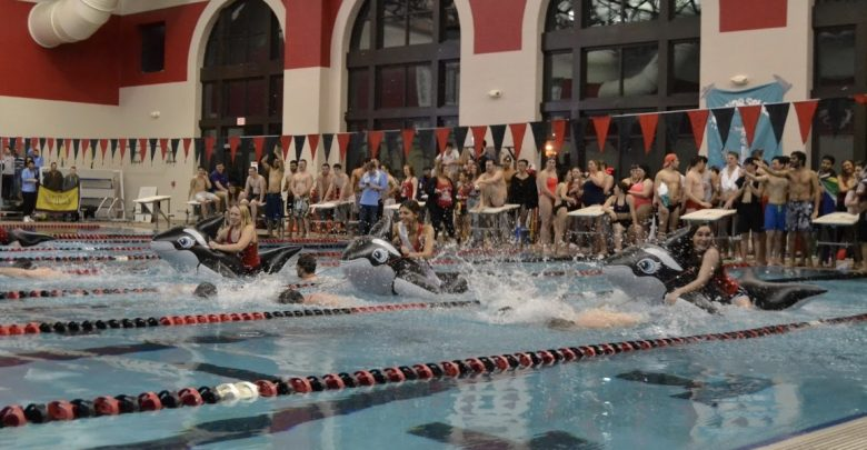 OWU students participated in a race at Anchor Splash.