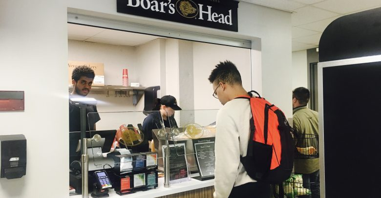 OWU student ordered food from the Boar's Head new menu.